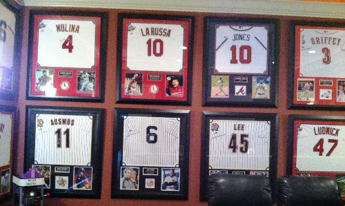 at all sports we only offer the best in custom framing all items are professionally framed using the finest materials let us decorate your sports room