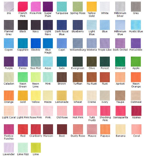 Hair Colours Chart