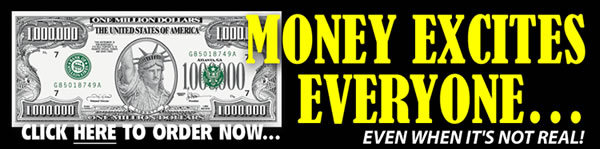 Order Your Official Million Dollar Bills Here!