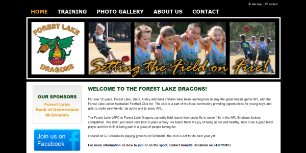 sports club website design web design for sporting clubs. Black Bedroom Furniture Sets. Home Design Ideas