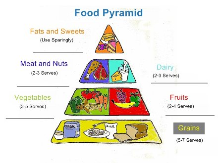 New Food Pyramid Vegetables And Fats