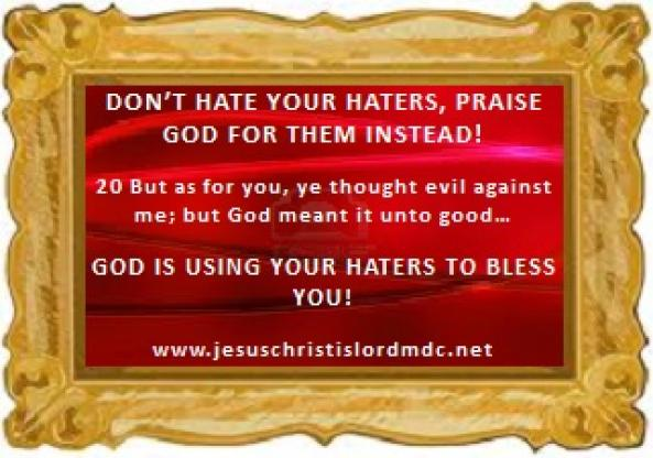 Prayer For My Haters Quotes: Www.jesuschristislordmdc.net,
