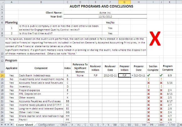 Sample Audit Forms