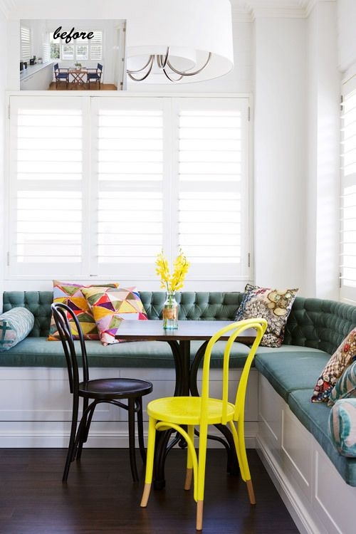 The coziness of a kitchen banquette - Banquettes in kitchens ...