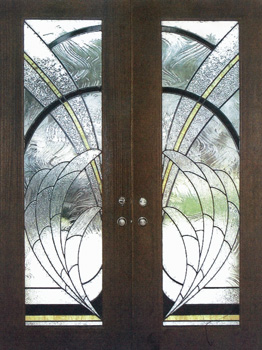 Artglassbywells serving houston since 1962 doors mahogany wood doors used in this custom stained glass double doors in austin county planetlyrics Image collections