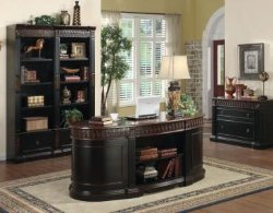 Oval Office Desk   Oval Executive Home Office Desk   Real Wood Office  Furniture   Solid