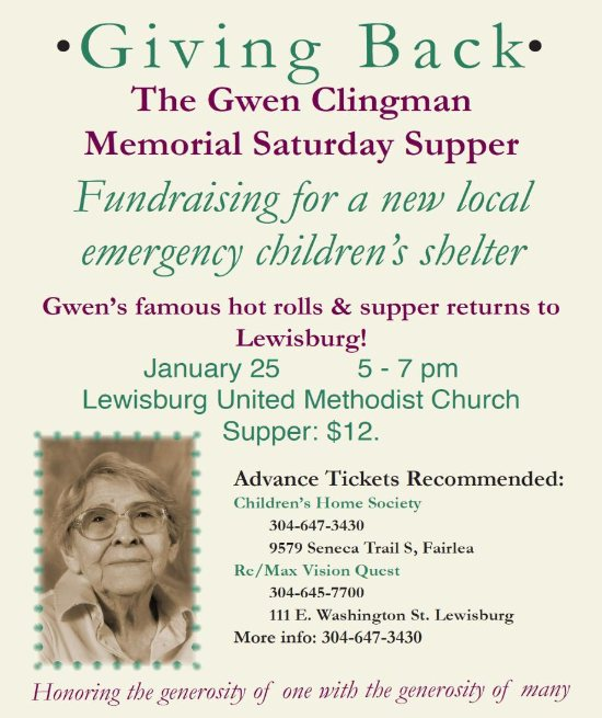 Gwen Clingman Memorial Supper