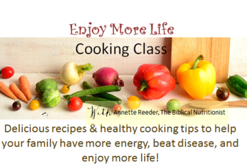 Enjoy More Life Cooking Class