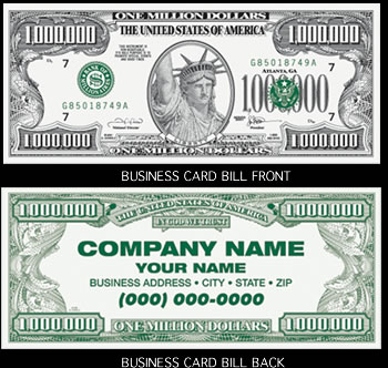 Business Card Million Dollar Bills