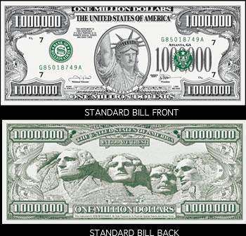 Standard Million Dollar Bills By Atlanta Adgraphics