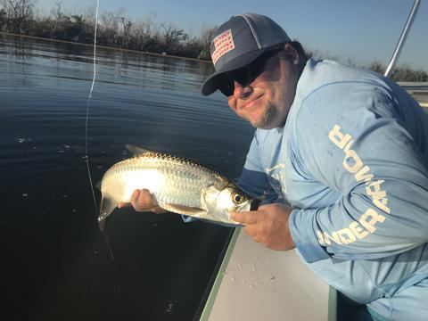 Bill Fly fishing for baby tarpon