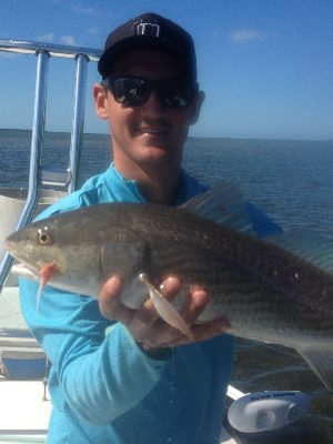 Brad with a redfish..