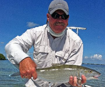 Tom with a bonefish.