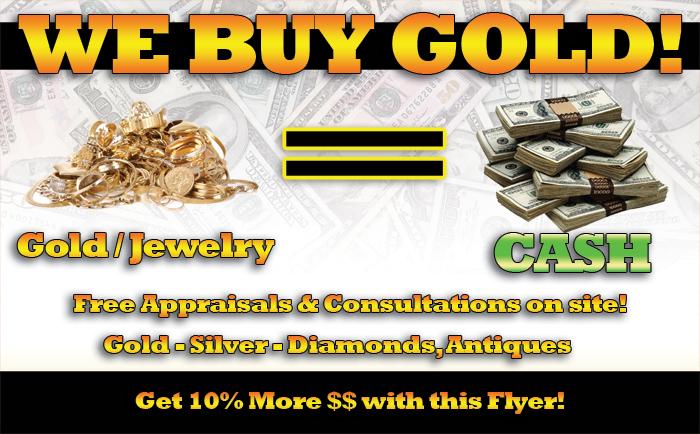 Buy Gold, Silver, Sell, Cash for Gold, Philadelphia