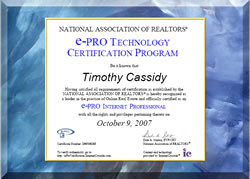 Tim Cassidy is e-Pro Technology Certification Program Certified