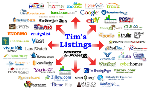 All of Tim Cassidy's listings through the MLS are also placed on syndicated Internet real estate sites
