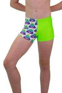 Rainbow and Lime Emoji Leotard Shorts