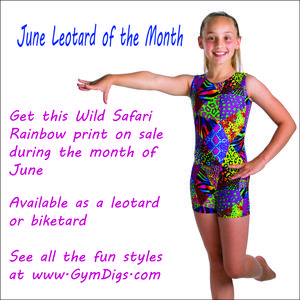 Wild Safari Rainbow leotard