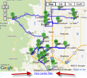 CLICK IMAGE for Larger Map Service Area for WOW Flooring and Carpets CO