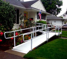 modular aluminum ramp installation in nh