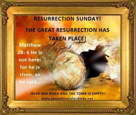IT'S RESURRECTION DAY!  4/5/15