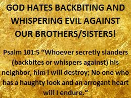 GOD HATES BACKBITING!