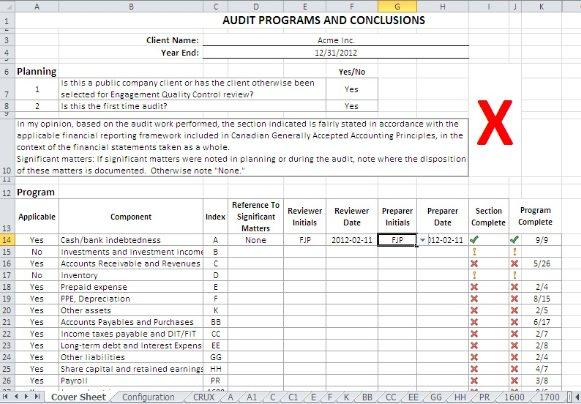 Sample audit forms audit program generator publicscrutiny Images