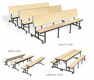 Merveilleux Mobile Tables And Benches