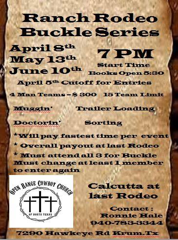 Ranch Rodeo Buckle Series