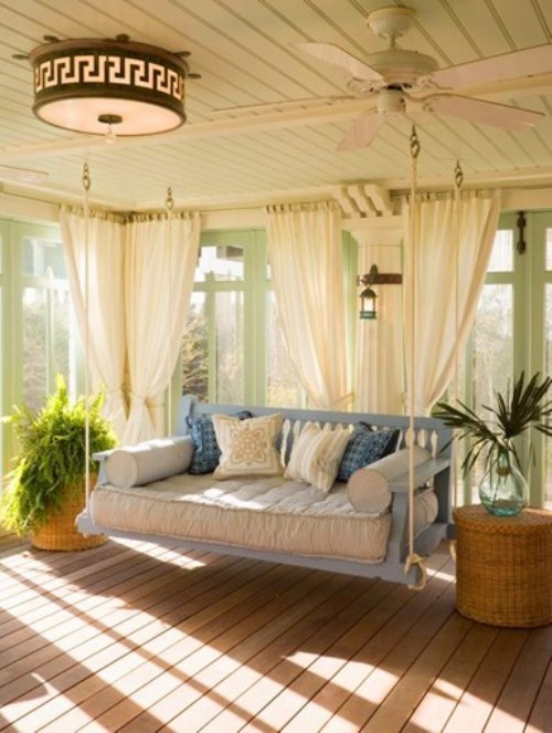 Sunroom with a swing! Outdoor living space