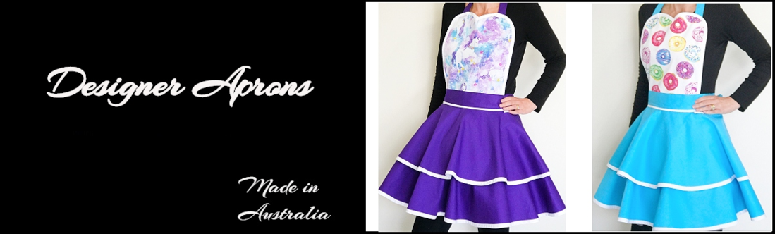luxury aprons made in australia on the gold coast queensland from quality cotton materials