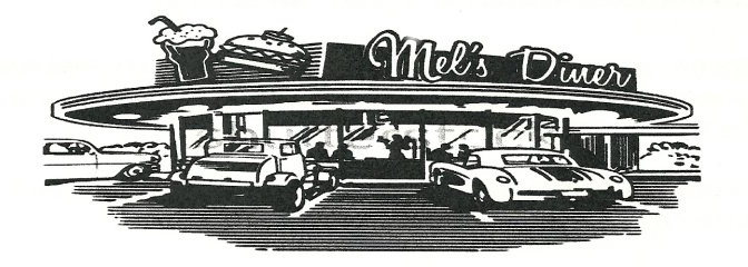 Drawing of Mel's Diner