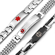 Mens Stainless Steel Medical Id Bracelets