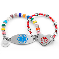 Click On Pictures To S Beaded Medical Id Bracelets