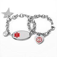 Medical Id Charm Bracelets
