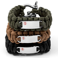 Mens Paracord Medical Id Bracelets