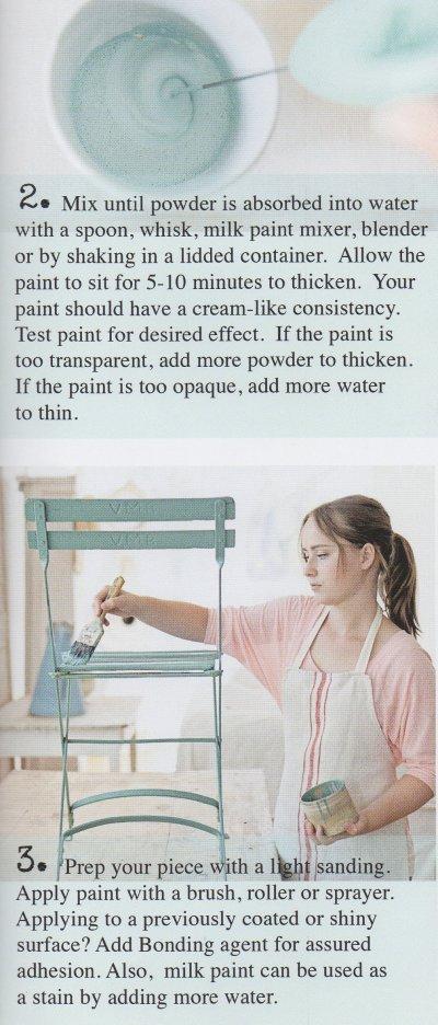 Miss Mollard Seed's Milk Paint Instructions Page 1