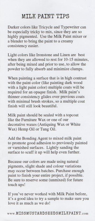 Milk Paint Tips