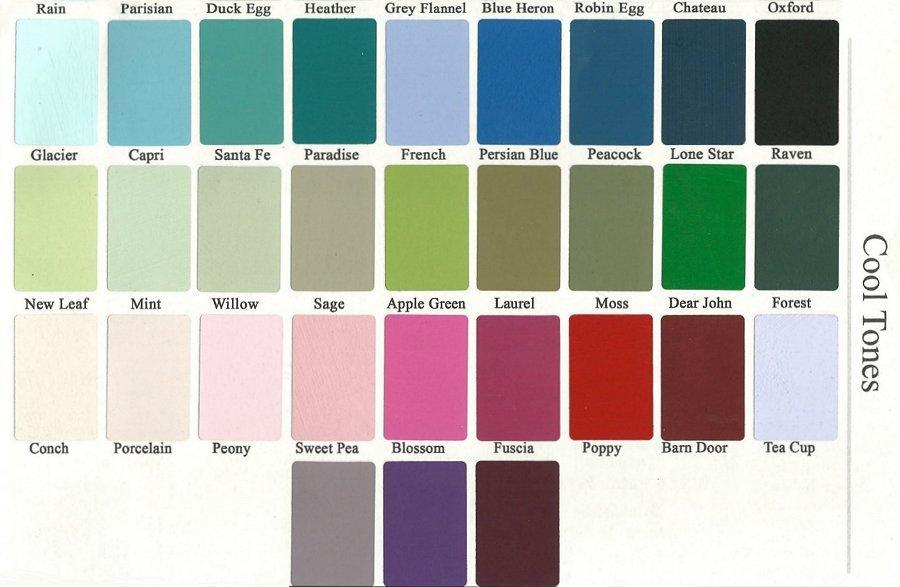 Vintage Market And Design Color Chart