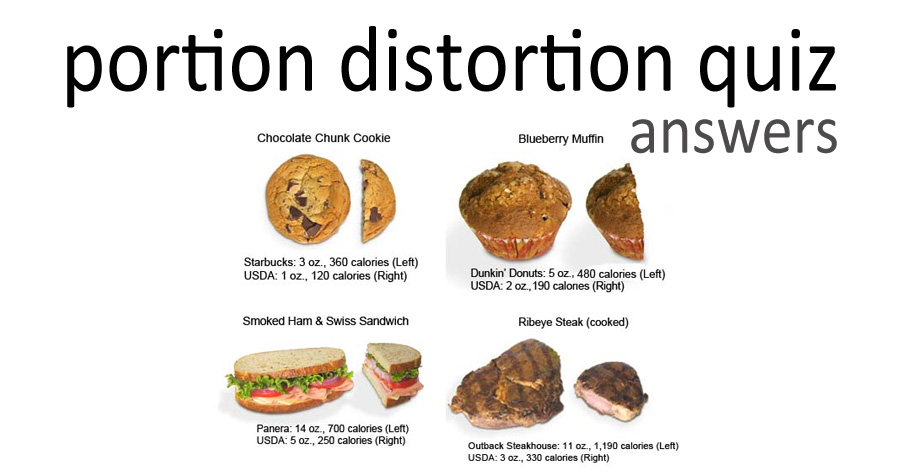 WLC Resources - Portion Distortion Quiz - Answers