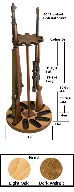 10 Gun Capacity Rotary Gun Rack Retention Band