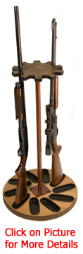 10 Gun Capacity Magnetic Rotary Gun Rack