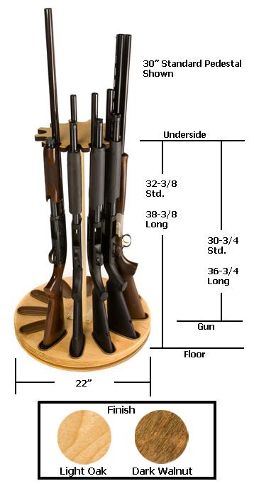 12 Gun Capacity Magnetic Rotary Gun Rack