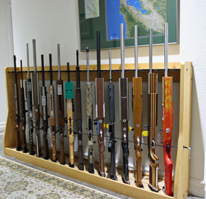Quality Rotary Gun Racks, quality Pistol Racks - Gun Rack - Custom Gun Racks