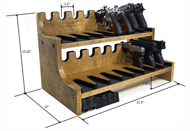 Quality Rotary Gun Racks quality Pistol Racks - Gun Rack - 16 Gun Pistol Rack w/Magazine Storage  sc 1 st  Gun Rack & Quality Rotary Gun Racks quality Pistol Racks - Gun Rack - 16 Gun ...