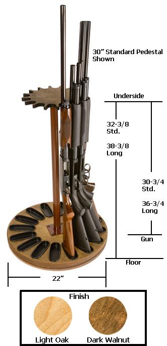 16 Gun Capacity Magnetic Rotary Gun Rack