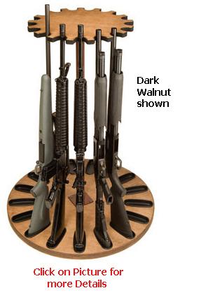 17 Gun Capacity Magnetic Rotary Gun Rack