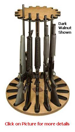 17 Gun Capacity Rotary Gun Rack Retention Band