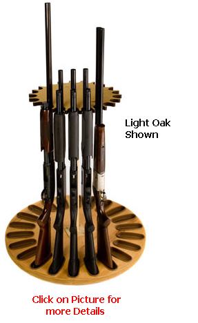 22 Gun Capacity Magnetic Rotary Gun Rack