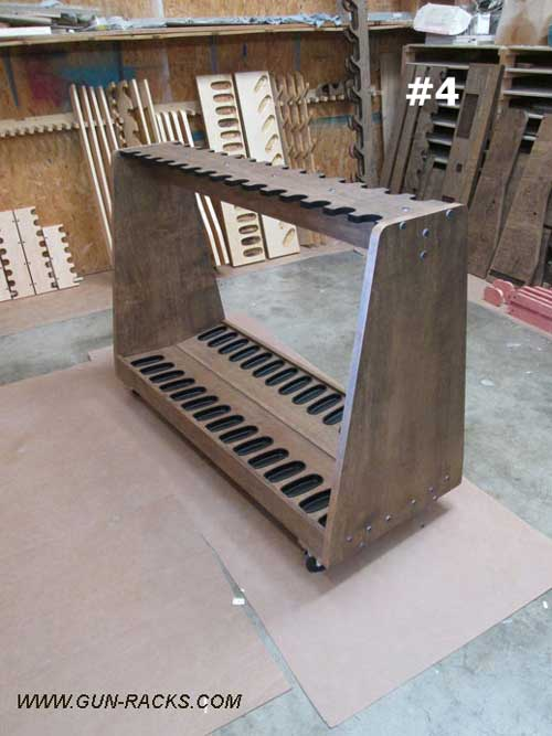 A Frame Style Gun Rack on Casters